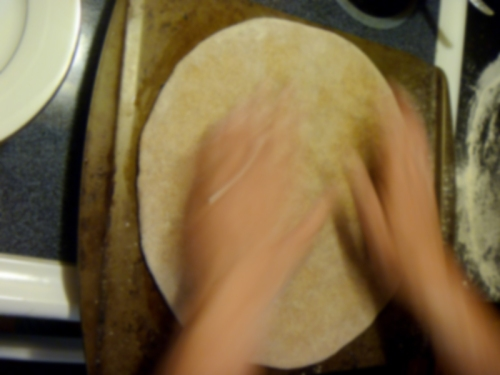 Makin' a pizza with whole-wheat crust